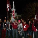 Eugene flag waving crew