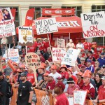 Fort Worth, TX - September 5, 2015 - Sundance Square: Fans on the set of College GameDay Built by the Home Depot (Photo by Scott Clarke / ESPN Images)