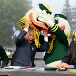 East Lansing, MI - September 12, 2015 - Munn Intramural Field: Lee Corso on the set of College GameDay Built by the Home Depot (Photo by Phil Ellsworth / ESPN Images)