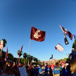 Tuscon, AZ - September 26, 2015 - University of Arizona: Fans on the set of College GameDay Built by the Home Depot (Photo by Phil Ellsworth / ESPN Images)