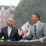 Clemson, SC - October 3, 2015 - Memorial Stadium: Lee Corso and Kirk Herbstreit on the set of College GameDay Built by the Home Depot (Photo by Allen Kee / ESPN Images)