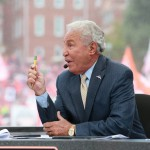 Clemson, SC - October 3, 2015 - Memorial Stadium: Lee Corso on the set of College GameDay Built by the Home Depot (Photo by Allen Kee / ESPN Images)