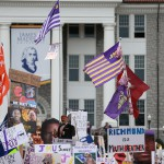 Harrisonburg, VA - October 24, 2015 - James Madison University: Fans on the set of College GameDay Built by the Home Depot (Photo by Allen Kee / ESPN Images)