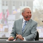Harrisonburg, VA - October 24, 2015 - James Madison University: Lee Corso on the set of College GameDay Built by the Home Depot (Photo by Allen Kee / ESPN Images)