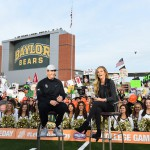 Waco, TX - November 14, 2015 - McLane Stadium: Coach Art Briles and Samantha Ponder on the set of College GameDay Built by the Home Depot (Photo by Joe Faraoni / ESPN Images)