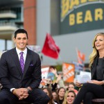 Waco, TX - November 14, 2015 - McLane Stadium: David Pollack and Samantha Ponder on the set of College GameDay Built by the Home Depot (Photo by Joe Faraoni / ESPN Images)