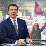 Columbus, OH - November 21, 2015 - Ohio State University: Rece Davis on the set of College GameDay Built by the Home Depot (Photo by Allen Kee / ESPN Images)