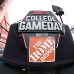 Columbus, OH - November 21, 2015 - Ohio State University: The set of College GameDay Built by the Home Depot (Photo by Allen Kee / ESPN Images)
