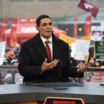 Indianapolis, IN - December 5, 2015 - Pan Am Plaza: David Pollack on the set of College GameDay Built by the Home Depot during coverage of the 2015 Big Ten Championship game (Photo by Scott Clarke / ESPN Images)