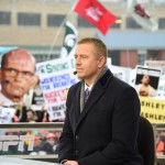 Indianapolis, IN - December 5, 2015 - Pan Am Plaza: Kirk Herbstreit on the set of College GameDay Built by the Home Depot during coverage of the 2015 Big Ten Championship game (Photo by Scott Clarke / ESPN Images)