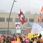 Indianapolis, IN - December 5, 2015 - Pan Am Plaza: Fans on the set of College GameDay Built by the Home Depot during coverage of the 2015 Big Ten Championship game (Photo by Scott Clarke / ESPN Images)
