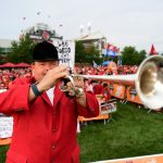 Louisville, KY - September 17, 2016 - University of Louisville: Churchill Downs Bugler, Steve Buttleman on the set of College GameDay Built by the Home Depot (Photo by Phil Ellsworth / ESPN Images)
