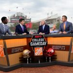 Louisville, KY - September 17, 2016 - University of Louisville: Desmond Howard, Rece Davis, Lee Corso and Kirk Herbstreit on the set of College GameDay Built by the Home Depot (Photo by Phil Ellsworth / ESPN Images)