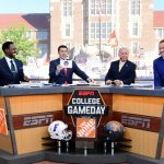 Knoxville, TN - September 24, 2016 - University of Tennessee: Desmond Howard, Rece Davis, Lee Corso and Kirk Herbstreit on the set of College GameDay Built by the Home Depot (Photo by Scott Clarke / ESPN Images)