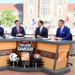Knoxville, TN - September 24, 2016 - University of Tennessee: Desmond Howard, Rece Davis, David Pollack and Kirk Herbstreit on the set of College GameDay Built by the Home Depot (Photo by Scott Clarke / ESPN Images)