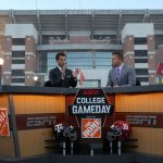 Tuscaloosa, AL - October 21, 2016 - University of Alabama: Matt Barrie and Kirk Herbstreit on the set of College GameDay Built by the Home Depot (Photo by Allen Kee / ESPN Images)
