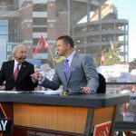 Tuscaloosa, AL - October 21, 2016 - University of Alabama: Lee Corso and Kirk Herbstreit on the set of College GameDay Built by the Home Depot (Photo by Allen Kee / ESPN Images)