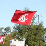 Tuscaloosa, AL - October 21, 2016 - University of Alabama: Washington State University Cougars flag on the set of College GameDay Built by the Home Depot (Photo by Allen Kee / ESPN Images)