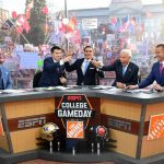 Salt Lake City, UT - October 29, 2016 - University of Utah: Demsond Howard, Rece Davis, David Pollack, Lee Corso and Kirk Herbstreit on the set of College GameDay Built by the Home Depot (Photo by Scott Clarke / ESPN Images)