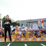Baton Rouge, LA - November 4, 2016 - LSU Parade Grounds: Samantha Ponder on the set of College GameDay Built by the Home Depot (Photo by Allen Kee / ESPN Images)