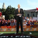 Baton Rouge, LA - November 4, 2016 - LSU Parade Grounds: Gene Wojciechowski on the set of College GameDay Built by the Home Depot (Photo by Allen Kee / ESPN Images)