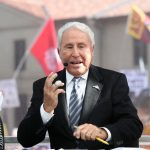 Baton Rouge, LA - November 4, 2016 - LSU Parade Grounds: Lee Corso on the set of College GameDay Built by the Home Depot (Photo by Allen Kee / ESPN Images)