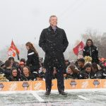 Kalamazoo, MI - November 19, 2016 - Western Michigan University: Tom Rinaldi on the set of College GameDay Built by the Home Depot (Photo by Allen Kee / ESPN Images)