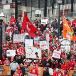 Columbus, OH - November 25, 2016 - Ohio State University: Fans on the set of College GameDay Built by the Home Depot (Photo by Allen Kee / ESPN Images)
