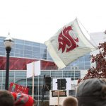 Columbus, OH - November 25, 2016 - Ohio State University: Flag of the Washington State University Cougars on the set of College GameDay Built by the Home Depot (Photo by Allen Kee / ESPN Images)