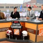 Indianapolis, IN - December 3, 2016 - Lucas Oil Field: Desmond Howard, Rece Davis, David Pollack and Kirk Herbstreit on the set of College GameDay Built by the Home Depot during the Big Ten Championship (Photo by Phil Ellsworth / ESPN Images)