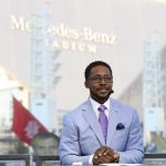 Atlanta, GA - September 2, 2017 - Georgia World Congress Center: Desmond Howard on the set of College GameDay Built by the Home Depot (Photo by Allen Kee / ESPN Images)
