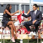 Atlanta, GA - September 2, 2017 - Georgia World Congress Center: Maria Taylor and David Pollack on the set of College GameDay Built by the Home Depot (Photo by Allen Kee / ESPN Images)