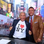 New York, NY - September 23, 2017 - Times Square Studios: Lee Corso and Kirk Herbstreit on the set of College GameDay Built by the Home Depot (Photo by Joe Faraoni / ESPN Images)
