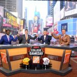 New York, NY - September 23, 2017 - Times Square Studios: Desmond Howard, Rece Davis, Lee Corso and Kirk Herbstreit on the set of College GameDay Built by the Home Depot (Photo by Joe Faraoni / ESPN Images)