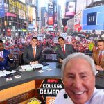<p> New York, NY - September 23, 2017 - Times Square Studios: Desmond Howard, Rece Davis, Lee Corso, David Pollack and Kirk Herbstreit on the set of College GameDay Built by the Home Depot (Photo by Lee Corso / ESPN Images)</p>
