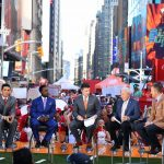 New York, NY - September 23, 2017 - Times Square Studios: David Pollack, Desmond Howard, Rece Davis, Lee Corso and Kirk Herbstreit on the set of College GameDay Built by the Home Depot (Photo by Joe Faraoni / ESPN Images)