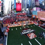 New York, NY - September 23, 2017 - Times Square Studios: Maria Taylor and David Pollack on the set of College GameDay Built by the Home Depot (Photo by Joe Faraoni / ESPN Images)