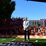 Blacksburg, VA - September 30, 2017 - Alumni Hall: Tom Rinaldi on the set of College GameDay Built by the Home Depot (Photo by Scott Clarke / ESPN Images)