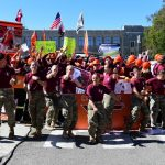 Blacksburg, VA - September 30, 2017 - Alumni Hall: Fans on the set of College GameDay Built by the Home Depot (Photo by Scott Clarke / ESPN Images)