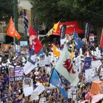 Fort Worth, TX - October 7, 2017 - Texas Christian University: Fans on the set of College GameDay Built by the Home Depot (Photo by Allen Kee / ESPN Images)