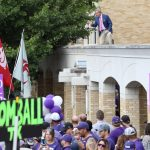 Fort Worth, TX - October 7, 2017 - Texas Christian University: Tom Rinaldi on the set of College GameDay Built by the Home Depot (Photo by Allen Kee / ESPN Images)