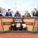 State College, PA - October 21, 2017 - Pennsylvania State University: Desmond Howard, Rece Davis, Ki-Jana Carter, Lee Corso and Kirk Herbstreit on the set of College GameDay Built by the Home Depot (Photo by Scott Clarke / ESPN Images)