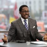 Columbus, OH - October 28, 2017 - Ohio State University: Desmond Howard on the set of College GameDay Built by the Home Depot (Photo by Allen Kee / ESPN Images)