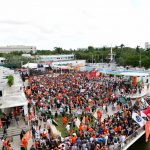 Miami Gardens, FL - November 11, 2017 - University of Miami: Fans on the set of College GameDay Built by the Home Depot (Photo by Scott Clarke / ESPN Images)