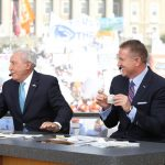 University Park, PA - September 29, 2018 - Pennsylvania State University: Lee Corso and Kirk Herbstreit on the set of College GameDay Built by the Home Depot (Photo by Allen Kee / ESPN Images)