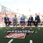 Fort Worth, TX - September 15, 2018 - Texas Christian University: David Pollack, Desmond Howard, Rece Davis, Lee Corso and Kirk Herbstreit on the set of College GameDay Built by the Home Depot (Photo by Allen Kee / ESPN Images)