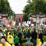 Eugene, OR - September 22, 2018 - University of Oregon: Fans on the set of College GameDay Built by the Home Depot (Photo by Scott Clarke / ESPN Images)