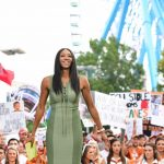 Dallas, TX - October 6, 2018 - Fair Park: Maria Taylor on the set of College GameDay Built by the Home Depot (Photo by Scott Clarke / ESPN Images)