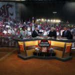 Pullman, WA - October 20, 2018 - Washington State University: Desmond Howard, Rece Davis, Lee Corso and Kirk Herbstreit on the set of College GameDay Built by the Home Depot (Photo by Allen Kee / ESPN Images)