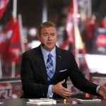 Pullman, WA - October 20, 2018 - Washington State University: Kirk Herbstreit on the set of College GameDay Built by the Home Depot (Photo by Allen Kee / ESPN Images)